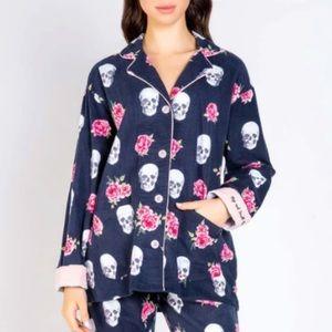 PJ Salvage Stop & Smell the Roses Pajama Top NWT